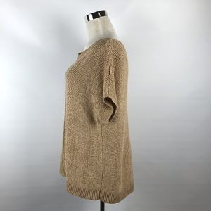 pointelle Sweaters - Pointelle Camel Color Pullover Sweater Blouse Sz M